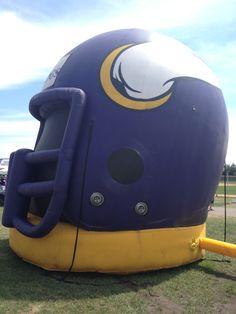 The inflatable helmet at Vikings Training Camp! | Minneapolis, Minnesota