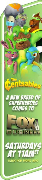A collection of superheroes who teach young children money management skills; virtual comic books, games, and cartoons. (The cartoon can be seen on FOX Business on Saturday mornings at 11:00 ET.) #FinancialLiteracy #Parenting #Money