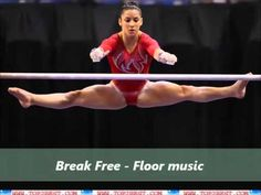 Break Free - Gymnastics Floor Music Music Rating : ★★★★☆ Beat: Channing beat Speed: Faster Sound Spikes: Okay amount Gymnastics Floor Routine, Gymnastics Floor Music, Female Gymnast, Break Free, Sports Women, Gymnasts, Flooring, Fitness Women, Hardwood Floor