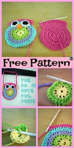 Adorable Crochet Owl Bags - Free Patterns Owls are one of our favorite animals, they are so cute, with the big eyes, and the beautiful feathers, so why not crochet one of these cute crochet owl bags Crochet Purse Patterns, Crochet Patterns Amigurumi, Crochet Owl Applique, Owl Patterns, Crochet Baby Hats, Cute Crochet, Crocheted Owls, Beautiful Crochet, Crochet Handbags