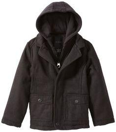 London Fog Boys Hooded Faux Wool Coat *** More details @ | Dress