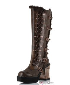 8ccd2bc1571 Langdon Tweed Steampunk Womens Boots MS-LANGDON by Hades Alternative Gothic