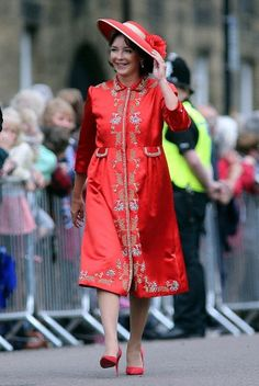 Jane Percy, Duchess of Northumberland, & Lord Lieutenant, to HRH Elizabeth II, for N. Landed Gentry, Alnwick Castle, North East England, Influential People, People Of The World, Royalty Free Photos, Shirt Dress, Stock Photos, Royal Families