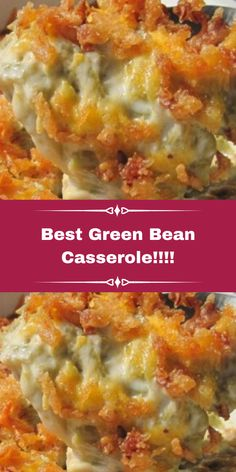 Ingredients: 2 (14.5 ounce) cans green beans, drained 1 (10.75 ounce) can condensed cream of mus... Best Thanksgiving Recipes, Thanksgiving Side Dishes, Holiday Recipes, Thanksgiving 2020, Traditional Thanksgiving Recipes, Holiday Ideas, All You Need Is, Best Green Bean Casserole, Recipes