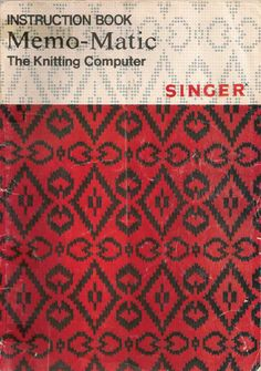 Link to Singer/ Knitmaster 321 Memo-Matic Instruction Book