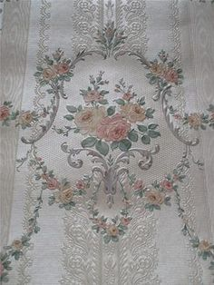 the prettiest vintage French wallpaper