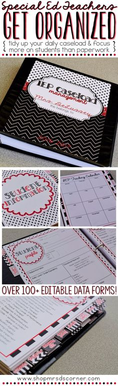 Feeling stressed out and unorganized? I understand! Being a special education teacher is a wonderful experience that, unfortunately, includes tons paperwork that can sometimes become overwhelming. This special education binder is your key to Iep Binder, Teacher Binder, Life Skills Classroom, School Classroom, Classroom Ideas, Future Classroom, Autism Classroom, Teaching Special Education, Elementary Education