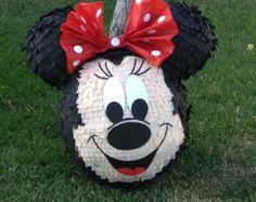 Pinatas pinatas  pinatas  Mickey Mouse or Minnie Mouse inspired face pinatas