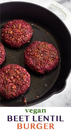 Easy Beet Recipe, Beet Recipes Healthy, Tasty Vegetarian Recipes, Lentil Recipes, Vegan Meals, Healthy Foods To Eat, Healthy Fats, Vegan Veggie Burger, Homemade Veggie Burgers