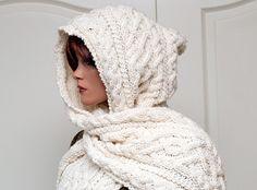 Pattern for Hooded Scarf Lilja por fashionworks en Etsy, €5,50