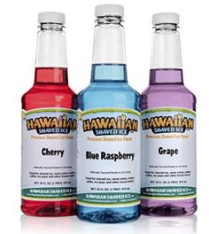 Hawaiian Shaved Ice Snow Cone Syrup 3 Flavor Kids Party Supplies Grape Cherry BB for sale online Snow Cone Syrup, Snow Cones, Hawaiian Shaved Ice, Snow Cone Machine, Kids Party Supplies, Caramel Color, Shaving, Pints, Ebay
