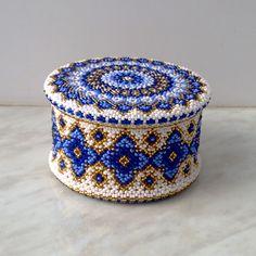 Зимняя шкатулка | biser.info - всё о бисере и бисерном творчестве