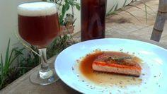 Le Garb: Bistronomia: Salmão ao molho Victoriano (cerveja escura)