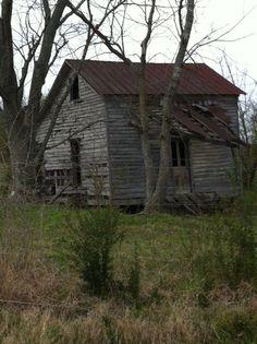 abandoned farm house, maury county, tennessee.