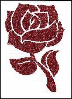 Tribal Rose Tattoos, Fake Tattoos, Rose Stencil, Red Glitter, Temporary Tattoo, Lululemon Logo, Tigger, Red Roses, Stencils