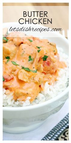 Best Butter Chicken Recipe | Tender pieces of chicken, marinated then cooked in a creamy tomato based sauce with Indian spices.