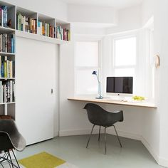 Black and White Home Work Space, Remodelista
