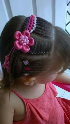 Peinados cintas Easy Toddler Hairstyles, Teen Hairstyles, Little Girl Hairstyles, Little Girl Braids, Girls Braids, Stich Braids, Princess Hairstyles, Crazy Hair, Hair Art