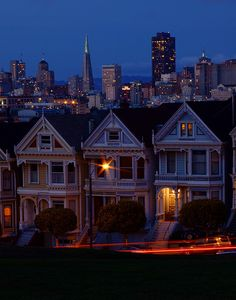 Alamo Square San Francisco California via flickr (also the site of the housefront used for years on the tv show FULL HOUSE)