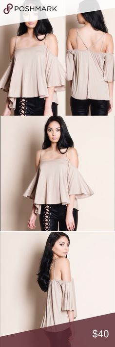 Selling this Cold Shoulder Top (S M L) on Poshmark! My username is: cali_stylez. #shopmycloset #poshmark #fashion #shopping #style #forsale #Tops