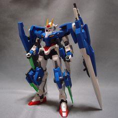 Bandai HG 1/144 GUNDAM 00 SEVEN SWORD assembled Setsuna F Seiei model kit Gunpla #Bandai