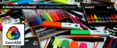 Note products are now identified with ColorADD code! FOR A MORE COLORFUL WORLD! COLOR IS FOR ALL!!!  http://www.briefing.pt/publicidade/37563-o-continente-e-a-fuel-realizam-desejos-escolares.html  #ColorADD #Note! #design #colorisforall #foramorecolorfulworld #colors #colorblind #Colorblindness #accessibility #colourblind #innovation