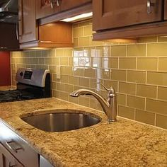 supreme glass tiles x glass subway tile in a kitchen backsplash the color is khaki available in over 15 colors glass subway tile h