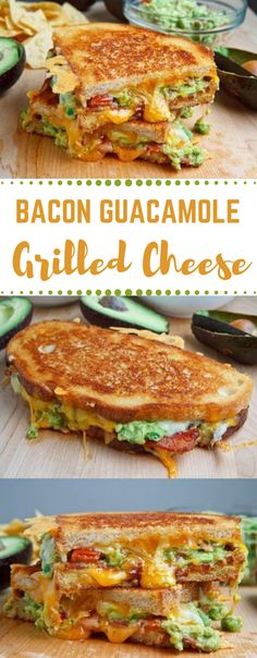 Bacon and guacamole grilled cheese sandwich # salad # healthy dinner # sandwich # bacon # recipes - - Bacon Recipes, Grilling Recipes, Appetizer Recipes, Cooking Recipes, Healthy Recipes, Fake Bacon Recipe, Grilled Cheese Recipes Easy, Bacon Sandwich Recipes, Oven Recipes