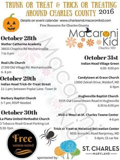 Charles County Fall Themed Events 2016 | Macaroni Kid