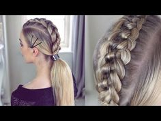 4 strand Knot Braid Ponytail by Sweethearts Hair Knot Braid, Braided Ponytail, Ponytail Styles, French Braid Hairstyles, Braided Hairstyles, Two French Braids, Viking Hair, Natural Hair Styles, Long Hair Styles