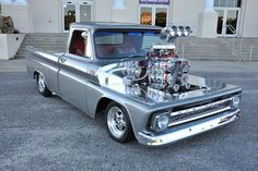 """A quiet, mild-mannered guy, Brad Gray lets his car collection do the talking. And, only a quick look at his two trucks, Camaro, and dragster impresses how big a fan of forced induction he is. However, his cars take a decidedly different approach. """"Everybody's got blowers and they just bolt on,"""" Brad told us. """"It's"""