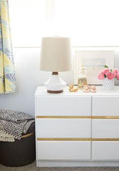 Oh Joy's Nursery/Office official reveal. Designed by Emily Henderson
