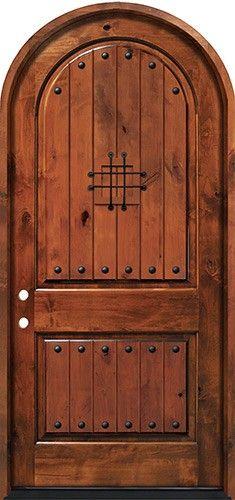 x Knotty Alder Radius Top Deluxe Prehung Entry Door Shaker Interior Doors, Arched Interior Doors, Cheap Interior Doors, Prehung Interior French Doors, Custom Interior Doors, Door Design Interior, Arched Doors, Arch Interior, Exterior Doors