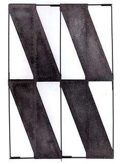 Giuseppe Uncini  Diagonali cementate, 1963, Cemento e ferro
