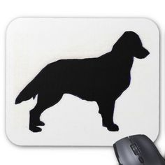 flat coated retriever silhouette mouse pad