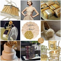 vintage wedding theme featuring Pantone's Honey Gold. Click image for details.