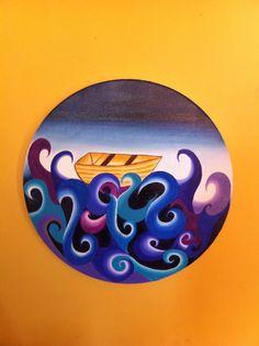 Oleo sobre tela circular color