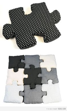 puzzle pillows. fun!