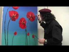 How to paint 3D Poppies in Acrylic Paint