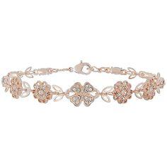 Accessorize Pretty Flower Clasp Bracelet (38 PLN) ❤ liked on Polyvore featuring jewelry, bracelets, sparkle jewelry, blossom jewelry, flower jewellery, accessorize jewelry and clasp jewelry