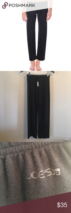 NWT Joe's Jeans Black Knit Luxe Yoga Lounge Pants Manufacturer: Joe's Jeans Size: XS Size Origin: US Manufacturer Color: Black Retail: $48.00 Condition: New with tags Fit: Style Type: Casual Pants Collection: Joe's Jeans Bottom Closure: Pull On Waist Across: 10 1/2 Inches Inseam: 30 Inches Rise: 8 1/2 Inches Hips Across: 17 Inches Leg Opening: 16 Inches Front Style: Flat Front Back Pockets: No Pockets Material: 49% Viscose/49% Polyester/2% Spandex Fabric Type: Knit Specialty: Stretch Joe's…