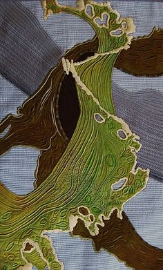 Seaweed on Grey Sand by Peny Berens, threadwork. Exquisite - not sure.. is this applicque? wow beautiful anyway!