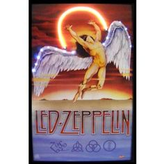 Neonetics Bar and Game Room Led Zeppelin Neon LED Framed Vintage Advertisement
