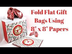 Hello everyone, today I have these fold flat gift bags made using x papers. This tutorial has been requested by a few people and is a great way to use up some of those x … Craft Stash, Craft Work, 3d Craft, Christmas Tale, Handmade Christmas, Craft Projects For Adults, 3d Projects, Scrapbook Paper Crafts, Paper Crafting