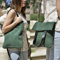 This convertible leather tote bag and crossbody bag is made with beautiful first quality Spanish leather.  Supple and strong with thick brown leather straps is perfect for everyday use, casual and formal, and bigger enough to carry all your stuffs.  This beautiful bag is made to use it as a tote bag or as a crossbody bag. It has attached one interior slip pocket on one side, perfect for phone, wallet, keys, small book, pen, etc.  The large strap to use it as a crossbody bag is adjustable…