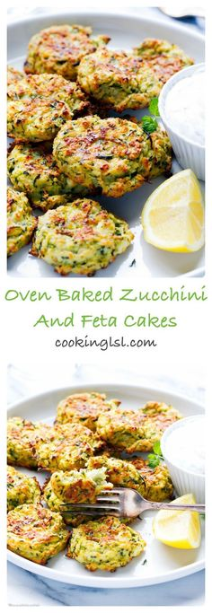 Oven Baked Zucchini And Feta Fritters - so light, simple to make and very addictive. Healthy and delicious, family favorite. Oven Baked Zucchini And Feta Fritters - so light, simple to make and very addictive. Healthy and delicious, family favorite. Healthy Snacks, Healthy Eating, Healthy Recipes, Curry Recipes, Eating Vegan, Healthy Pizza, Healthy Protein, High Protein, Bake Zucchini