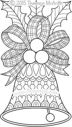 Color Christmas Bell Coloring Page by Thaneeya: