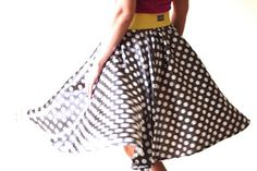 MADE - Easy circle skirt tutorial.   Lots of good tutorial on her blog