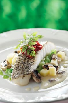 Baked Cod Fish with a Creamy Mushroom Sauce Recipe | AmazingSeafoodRecipes #seafood #recipes #fish