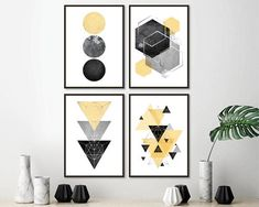 Art you print yourself by UrbanEpiphanyPrints Printing Services, Online Printing, Printable Art, Printables, Geometric Wall Art, Scandinavian Art, Blue And Copper, Art Mural, Interior Exterior